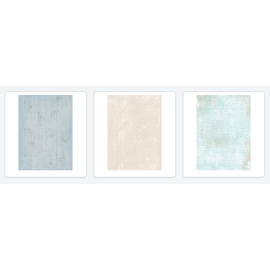 Studio Light Decoupagepapier, Shabby Chic Paper Patch SET,  2 x 3 sheets/40x60cm