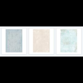 Studio Light Papier de découpage, Shabby Chic Paper Patch SET, 2 x 3 feuilles / 40x60cm