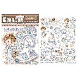 Stamperia Little Boy Die Cuts, 63 pezzi!