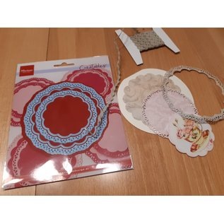 Marianne Design Stanseskabelon , Doily duo, LR0592