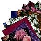 Docrafts / Papermania / Urban Papermania, carta a motivi, fiori scuri, 30,5 x 30,5 cm, 50 fogli! 160 gsm!