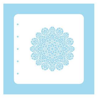 Nellie Snellen Stencil Christmas Time, Mandala und Stars in strangled circles
