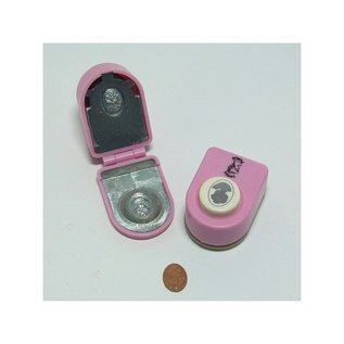 Locher / Stanzer / Punch Perforator, jumbo set vintage dame klein
