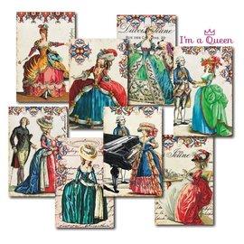 decorer Decorador, en una reina, juego de papel, 7x10.8 cm.