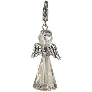Knutselset Crystal Guardian Angel, 3,2 x 2 cm met karabijnhaak, maansteen