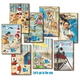 decorer Décorer, Allons à la mer, set de papier, 7x10,8 cm