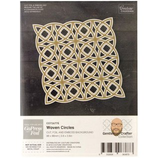 cutting template foil, curved, background with woven circles