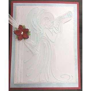 Prägefolder Cartella per goffratura, angelo, circa 10,8 x 14,6 cm