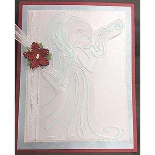Prägefolder Embossing folder, engel, ca. 10,8 x 14,6 cm