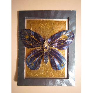 A4 vel, Dufex, 3D in metaalgravure, vlinders