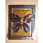 A4 sheet, Dufex, 3D in metal engraving, butterflies