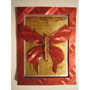 A4 Bogen,  Dufex, 3D in Metalgravur, Schmetterlinge