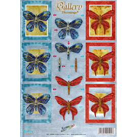 Reddy Foglio A4, Dufex, 3D in incisione in metallo, farfalle