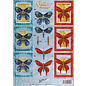 A4 ark, Dufex, 3D i metalgravering, sommerfugle