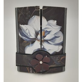 Docrafts / Papermania / Urban Papermania, motif paper, dark florals, 30.5 x 30.5 cm, 50 sheets! 160 gsm!