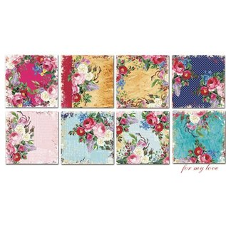 decorer Brandneu!For my Love,  15x 15 cm, Papier Set