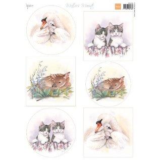 Marianne Design Bilderbogen, A4,  Mattie's schönste Tierenbilder