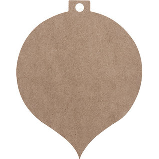 Holz, MDF, Pappe, Objekten zum Dekorieren MDF kerstballen, 2 stuks, in 2 maten