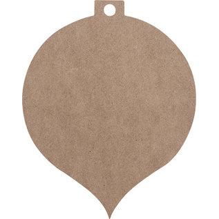Holz, MDF, Pappe, Objekten zum Dekorieren MDF Weihnachtskugel, 2 Stück, in 2 Größe