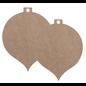 Holz, MDF, Pappe, Objekten zum Dekorieren MDF Christmas balls, 2 pieces, in 2 sizes