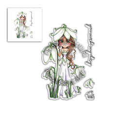 "Polkadoodles  Stempelmotiv, ""Snowdrop Darling Bud"" Clear Stamp"