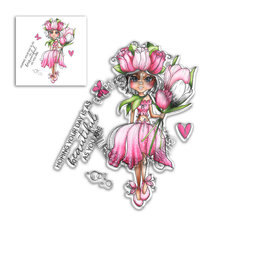"Polkadoodles  Stempelmotief, Clear Stamp ""Tulip Darling Bud"""