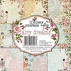 decorer Fairy Dreams, 15 x 15 cm, set di carta,