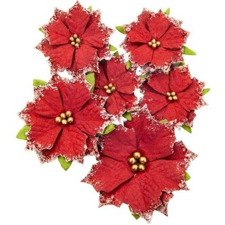 Prima Marketing und Petaloo Christrosen,  Christmas In The Country Flowers Christmas Cheer