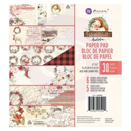 Prima Marketing und Petaloo Designer paper pad, 15 x 15 cm, Christmas In The Country 6 x 6 paper pad
