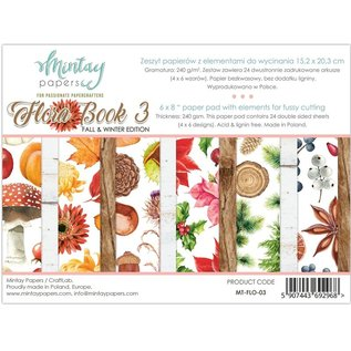 Mintay und Ciao Bella Gloednieuw Mintay, 152 x 203 mm, Paper Pad Flora Book