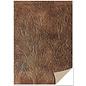 Karten und Scrapbooking Papier, Papier blöcke 5 vellen karton, lederlook, donkerbruin