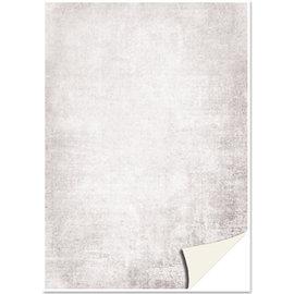 Karten und Scrapbooking Papier, Papier blöcke 5 feuilles de papier cartonné, aspect parchemin, gris