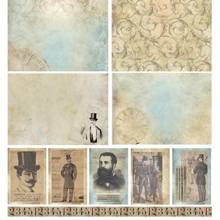 LaBlanche Designerpapier, Ladies & Gents, 30,5 x 30,5 cm
