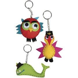 Craft kit: Funny Animals, 4-9 cm, 3 types
