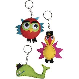 Kit creativo: animali divertenti, 4-9 cm, 3 tipi