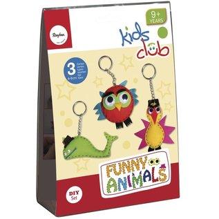 Kit de bricolage: Funny Animals, 4-9 cm, 3 types