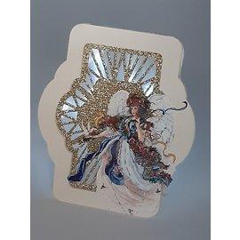 Vintage, Nostalgia und Shabby Shic Hoja A4 con 2 motivos, hermosos ángeles en 3D