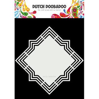 Dutch DooBaDoo Art stencil, Dutch Shape Art Lola, 210 x 210mm