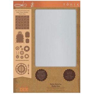 Tonic Studio´s Metalen plaat, A5, voor optimaal ponsen met een ponsmal, van filigraanmotieven