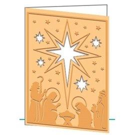 Docrafts / Papermania / Urban Stanzschablone und Prägefolder in Eins: Weihnachtsmotive