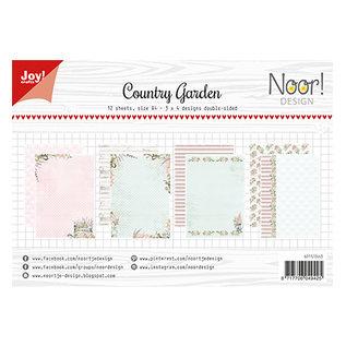 A4 Papier Set, Country garden