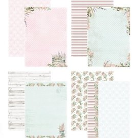 A4 Papier Set, Country garden