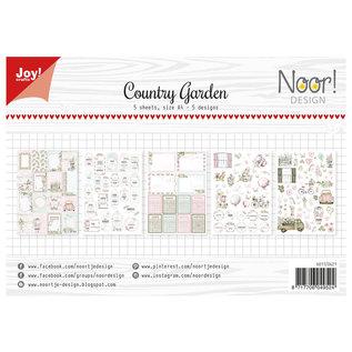 A4, Papier SET, Country Garden, Etiketten und Verzierungen