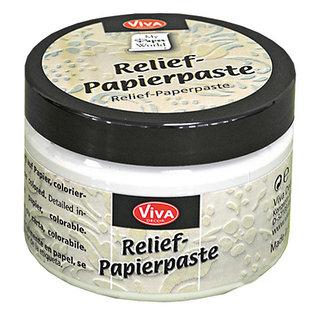 VIVA DEKOR (MY PAPERWORLD) Reliëfpapierpasta, oudwit, 150 ml