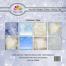 Designer pad, 15.5 x 15.5 cm, 32 sheets, 8 motifs x4, 120gsm.