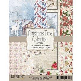Reprint Designblok, kerstmotieven, 15,5 x 15,5 cm, 20 vellen, 2 motieven x2, 170 g / m2