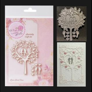 """Wild Rose Studio`s Wild Rose Studio`s stampaggio e goffratura stencil """"Love Uccello Albero"""""""