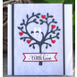 """Wild Rose Studio`s Wild Rose Studio`s stempelen en embossing stencil """"Boom van de liefde Vogel"""""""