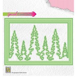 Stanzschablonen , Tannenbäume, 140x97 mm