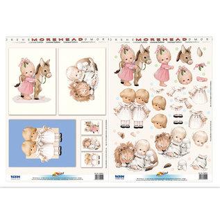 Stanzbogen + Hintergrundbogen, A4  Moreheads,  in Auswahl